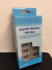 AM/PM Weekly Pill Box Organizer Sorter Daily Container 7 Day Night Day