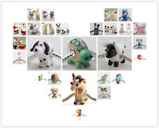 1P SILVER MURANO GLASS BEAD LAMPWORK Animal Fit European Charm Bracelet 67 items