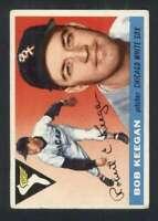 1955 Topps #10 Bob Keegan VG/VGEX White Sox UER 86010
