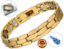Magnetic Health Bracelet Arthritis Carpal Tunnel Therapy Bio Healing Pain Relief