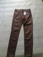 Womens Wet Look jeans size L(12)