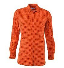 Gepunktete figurbetonte Herren-Freizeithemden aus Baumwolle