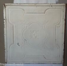"""24""""x 24"""" Antique Ceiling Tin Tile *See Our Salvage Videos* White A12"""