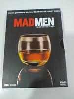 Mad Men Tercera Temporada 3 Completa - 4 x DVD Español Ingles