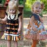Toddler Kid Baby Girl Princess Halloween Costume Pumpkin Sleeveless Dress Outfit