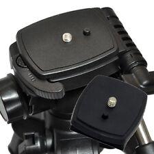 Schwarz Schnellwechselplatte Schrauben-Adapter Stativkopf für Sony DSLR-Kamera