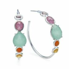 $1295 NWT BOX Current Ippolita #3 Mixed Stone Hoop Earrings