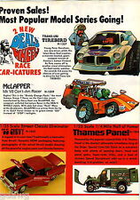 1971 ADVERT 8 Pg Revell Feaky Riders Sleazy Rider Kawasaki Drag Bike Hemi Hydro