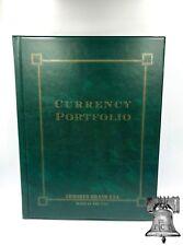 Green Currency Portfolio Banknote Holder Album Folder Case Armored Brand USA
