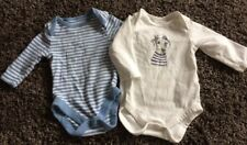 Set of 2 Long Sleeved Vests - Age 0-3 Months