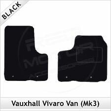 Vauxhall Vivaro Van Mk2 2014 onwards Tailored Carpet Car Floor Mats BLACK