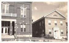 Newport New Hampshire Records Building Real Photo Antique Postcard K31149