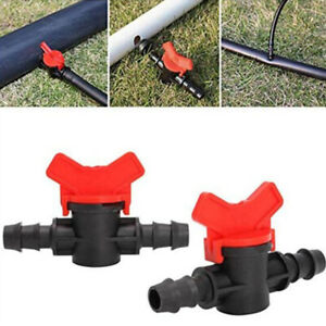 5Pcs 16mm Ball Valve Barbed Water Hose Pipe Drip Irrigation Connector Garden