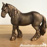 Shire Heavy Cart Horse ornament sculpture figurine Leonardo Bronzed gift boxed