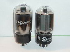 GE 6L6GC Tubes, Closely Matched Pair, Tested, NOS