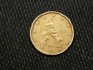 Pièce 20 Euro Cent Italie 2002,
