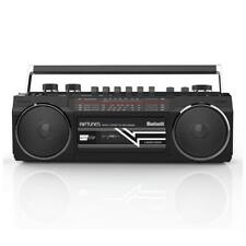 Riptunes Retro Am/Fm/Sw Radio + Cassette Boombox with Bluetooth & Usb/Sdhc Port