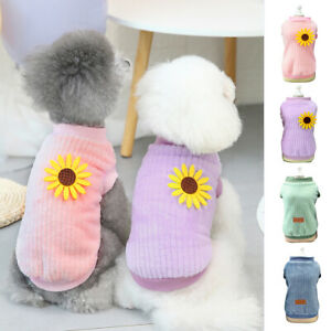 Warm Dog Jumper Sweater Winter Pet Cat Puppy Coat Fannel Clothes for Small Dogs