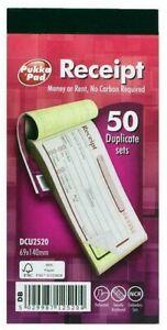 Pukka Pad Duplicate Receipt Book 50 Sets (NCR) 69mm x 140mm