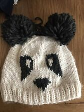 NEXT PANDA WOOLY HAT ONE SIZE NEW WITH TAGS £10