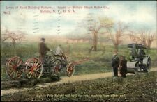 Buffalo Pitts Steam Road Roller Co Heavy Equipment Construction c1910 Postcard