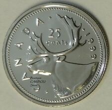 1999 Canada Proof-Like Caribou 25 Cents