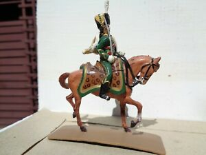 Segom Napoleonic French Chassuer Hussar  cavalry, painted plastic 54mm, TD