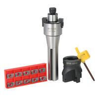 R8 FMB22 Straight Shank Arbor + 400R 50mm Face End Mill Cutter + Carbide Insert