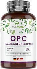 OPC Traubenkernextrakt + Vitamin C 180 Kapseln + 1000 mg OPC + Laborgeprüft
