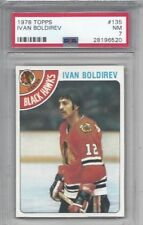 1978 Topps hockey card #135 Ivan Boldirev, Chicago Blackhawks graded PSA 7
