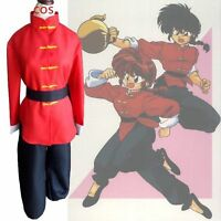 Ranma 1//2 Saotome Gender Bend Chinese Kunfu Outfit Cosplay Costume AA.0947