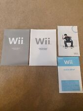 Nintendo Wii Console instruction Manuals