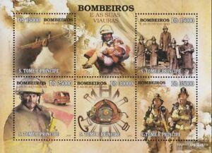 Sao Tome e Principe 4430-4434 Kleinbogen (kompl.Ausg.) postfrisch 2010 Feuerwehr