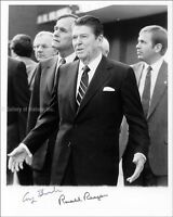 RONALD REAGAN - PHOTOGRAPH SIGNED CO-SIGNED BY: GEORGE H.W. BUSH