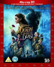 Beauty and the Beast (2017) 3D + 2D Emma Watson Blu-Ray Disney NEW