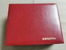 Zenith Vintage rare watch box red leather for any models 70' years gold logo goo