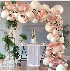 GARLAND 105 PCS BRONZE BALLOON WEDDING BIRTHDAY BABY SHOWER CONFETTI PARTY KIT