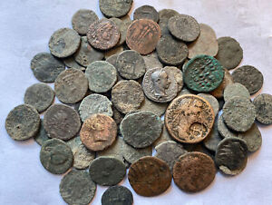 Unresearched Ancient Roman Coins , Lot Of 80 Very Interesting Coins