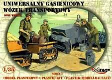 UNIVERSAL TRACKED TRAILER TO GERMAN, FRENCH & POLISH WW II VEHICLES 1/35 MIRAGE