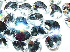 48 Clear Crystal Teardrop Bead Pear 13x18 mm Rhinestone Gems Flatback Sew on