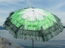 Maffei ombrellone Tulum bianco lime verde Art.7 palo centrale rafia d. 200 cm
