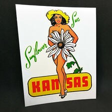 "Kansas ""Sunflower Sue"" Pin up Vintage Style Decal / Vinyl pin up Sticker"