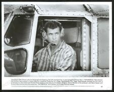 AIR AMERICA-8X10 B&W PHOTO-MEL GIBSON IN COCKPIT FN