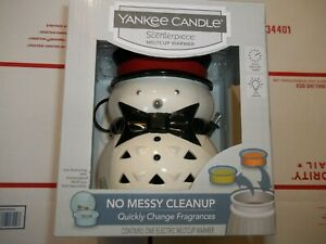 YANKEE CANDLE SCENTERPIECE  SNOWMAN ELECTRIC MELTCUP WARMER W/Timer