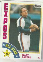 FREE SHIPPING-MINT-1984 Topps #393 Gary Carter All-Star Expos PLUS BONUS CARDS