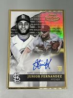 Junior Fernandez 2020 Topps Gold Label ⚾️ Rookie RC Gold Framed Auto Cardinals