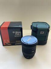 New Sigma EX 17-35mm f2.8-4 HSM Aspherical Zoom AF for Canon