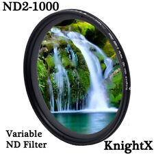 ND2 TO ND1000 Neutral Density Variable ND LENS FILTER 49 52 55 58 62 67 72 77 mm