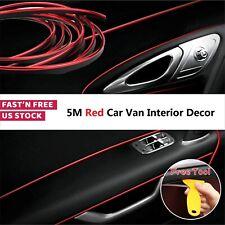 5M Car Van Interior Decor  Point Edge Door Panel Accessories Molding Line Red US