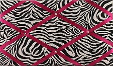 Zebra Animal Print & Rosa Shocking multifunzione, Pin Board BACHECHE MEMO Message Board